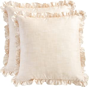Win A Free The White Petals Cream Frills Cushion Covers - Luxurious