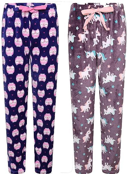 Insignia Mujer Ropa Cómoda Lujo Pijamas de Forro Polar Pantalones (1 Pack 2): Amazon.es: Ropa y accesorios