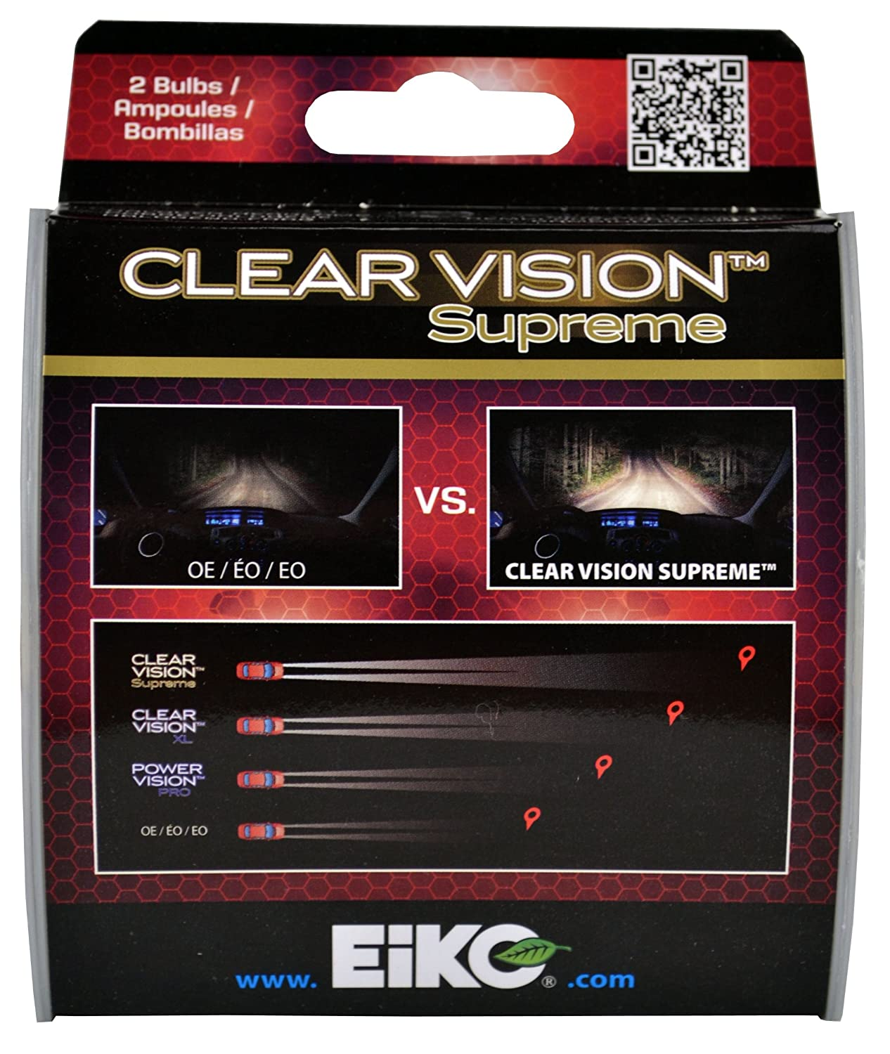 Amazon.com: EiKO H1155CVSU2 H1155 Clear Vision PRO Halogen Bulb -2 pk: Automotive