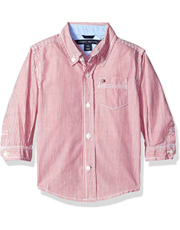 9a3cc57321 Tommy Hilfiger Boys' Long Sleeve Tommy Stripe Shirt