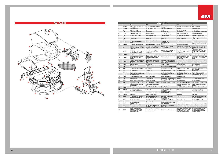 Givi –  catadiottro Valigia v46NT DX –  SX z731tr