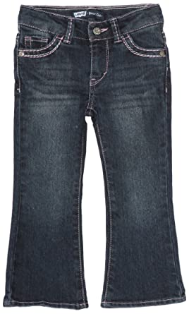 3aabc33b3 Levi's Girls' Toddler 715 Bootcut Thick Stitch Jeans, Blue Wonder, ...