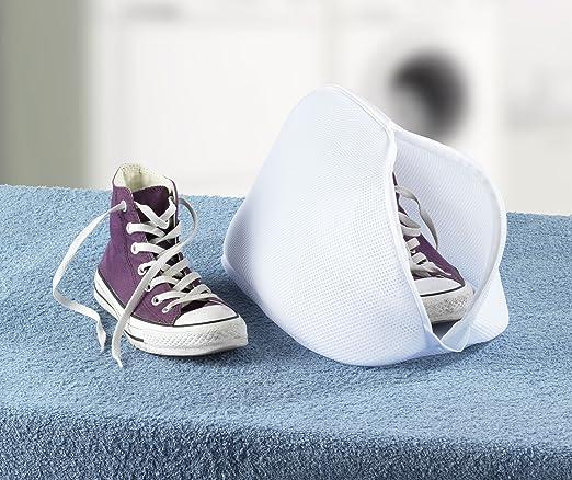Wenko Saco Lavadora para Zapatos, Poliéster, Blanco, 23x40x23 cm: Amazon.es: Hogar