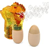 T-rex Bubble Gun Shooter – Light Up Bubble Blaster With Realistic Sounds by Big Mo's Toys (Yellow)