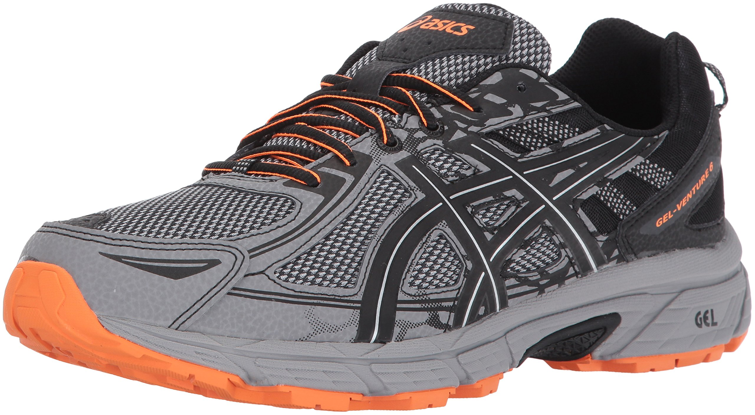 ASICS Mens Gel-Venture 6 Running Shoe, Frost Grey/Phantom/Black, 14 4E US by ASICS
