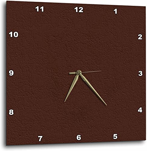 3dRose Textile Pattern Like Brown Leather – Wall Clock, 13 by 13-Inch DPP_18541_2