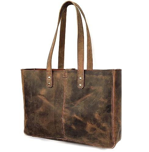 daa0ea6f39f3 KK's Leather Genuine Soft Buffalo Leather Tote Bag Elegant Shopper Shoulder  Bag SALE Leather Bags Leather tote bags leather women bags leather travel  ...