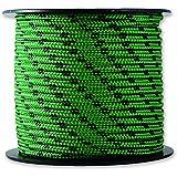 Chapuis MO325V Drisse polyester 200 kg D 3 mm L 25 m Noir/Vert