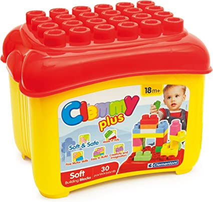 NEW Clementoni Clemmy World Soft Construction Blocks For Kids Set of 24 blocks