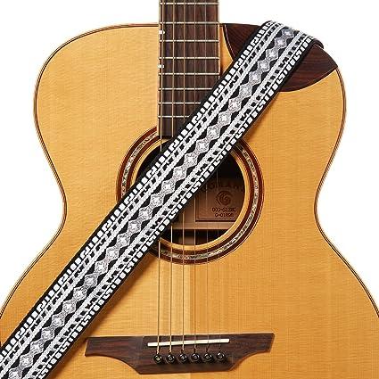 Amazon Com Amumu Retro Hootenanny Ribbon Woven Guitar Strap With