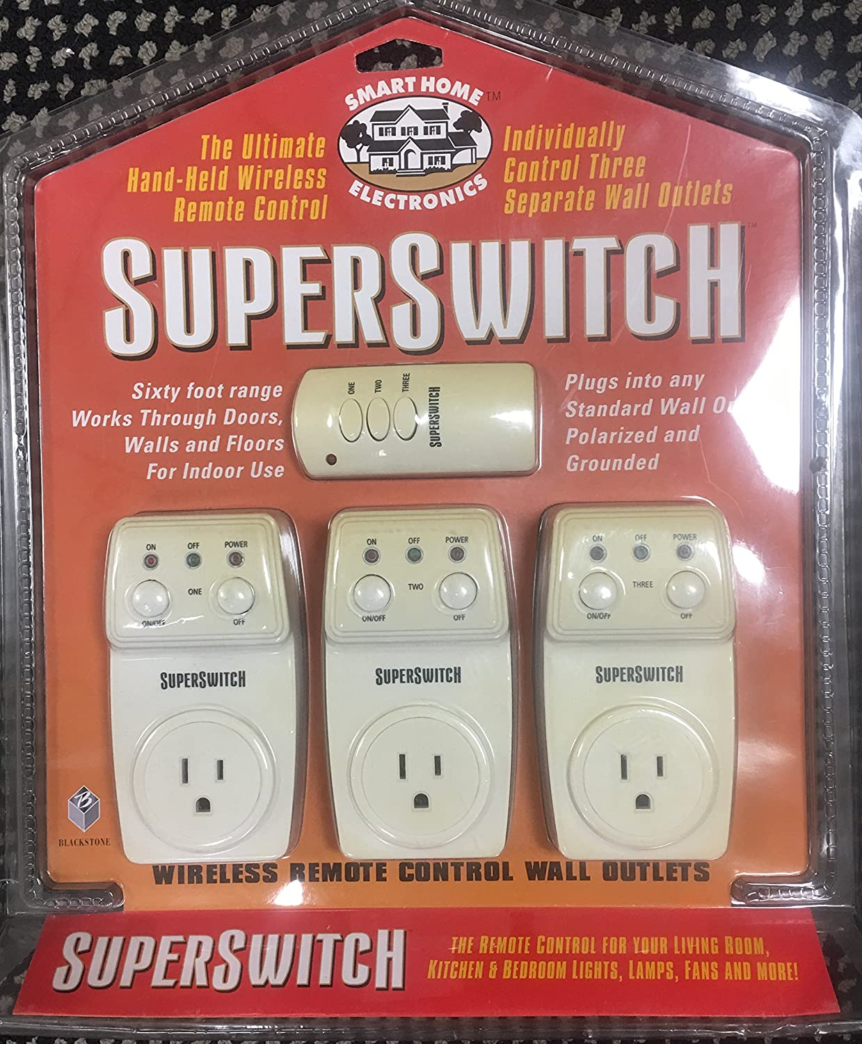 Super Switch Indoor Wireless Remote Control Outlets Star Wiring Receptacles Electronics