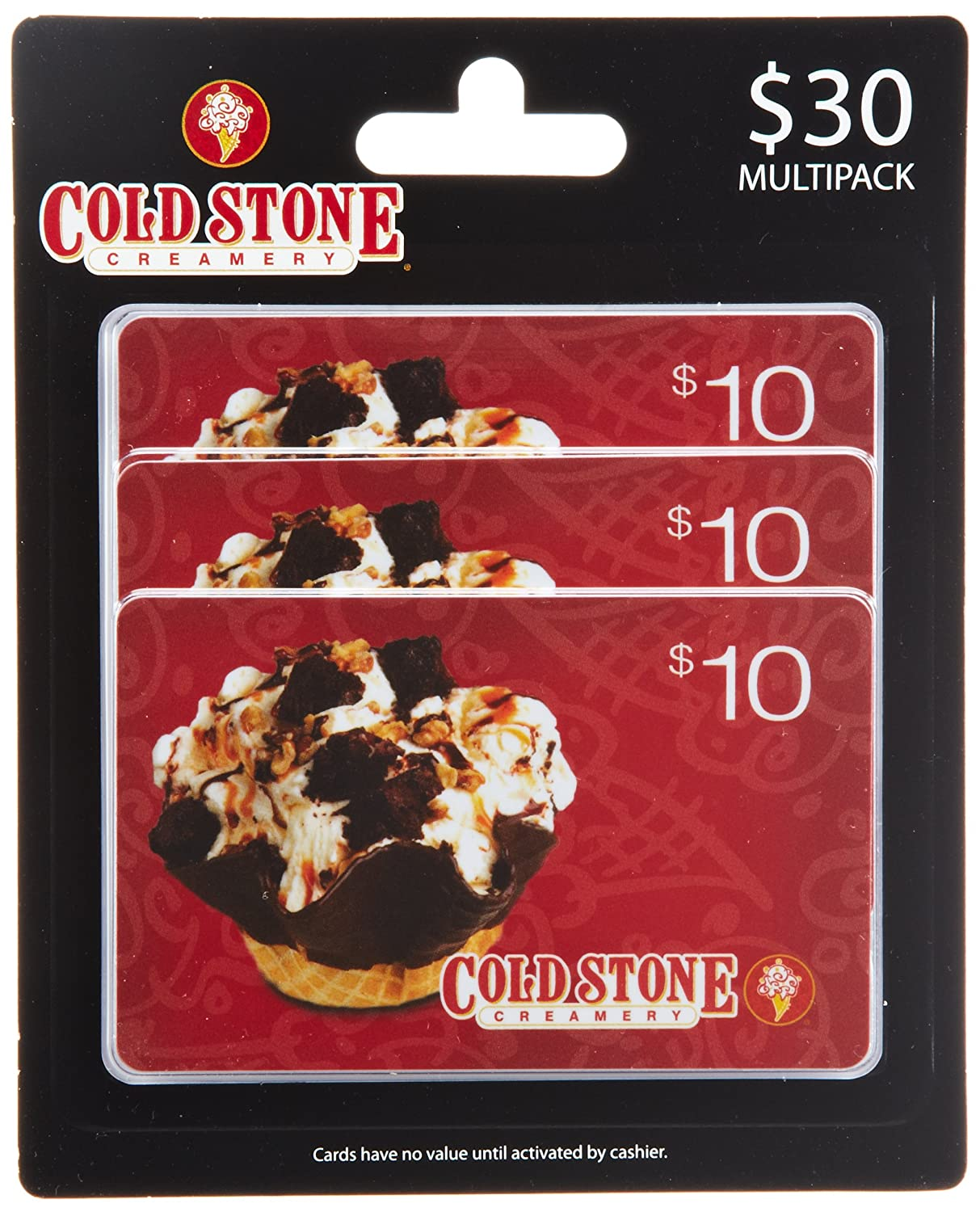 Cold Stone Creamery Gift Cards, Multipack of 3 Multipack of 3 - $10