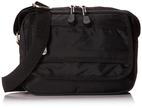 204700478582 Derek Alexander Small Top Zip Shoulder Bag, Black, One Size: Amazon ...
