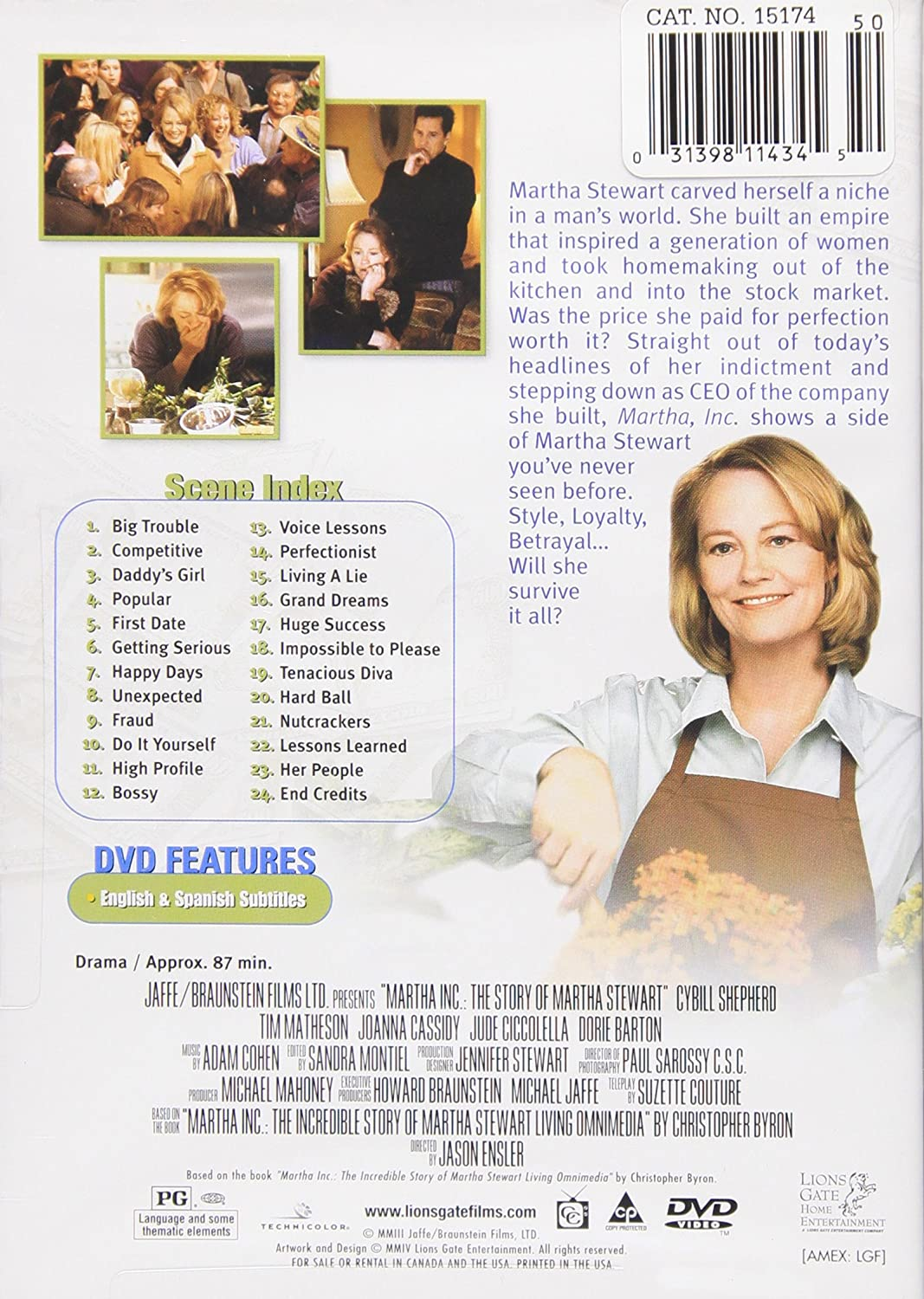 Amazon.com: Martha, Inc: Cybill Shepherd, Tim Matheson, Joanna ...