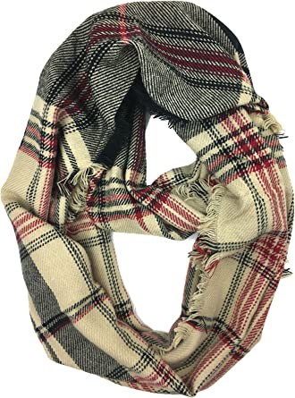 Womens Infinity Fringe Scarf /& Sweater Style /& Co