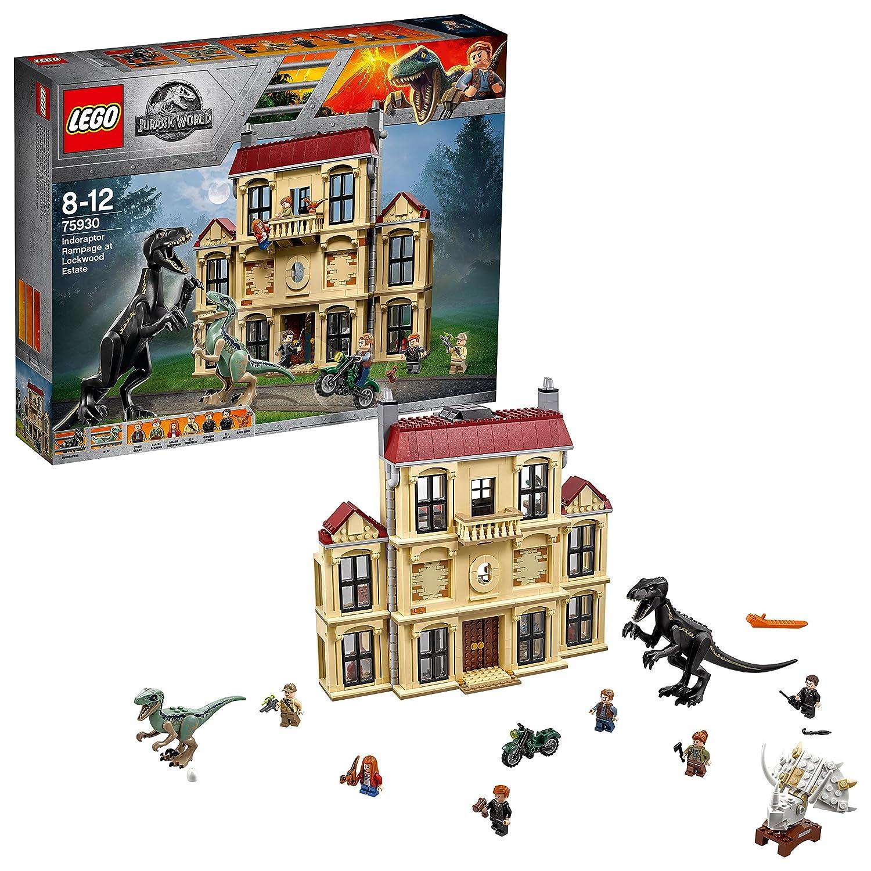 LEGO Jurassic World - Caos del Indorraptor en la Mansión Lockwood, Juego de Construcción (75930)