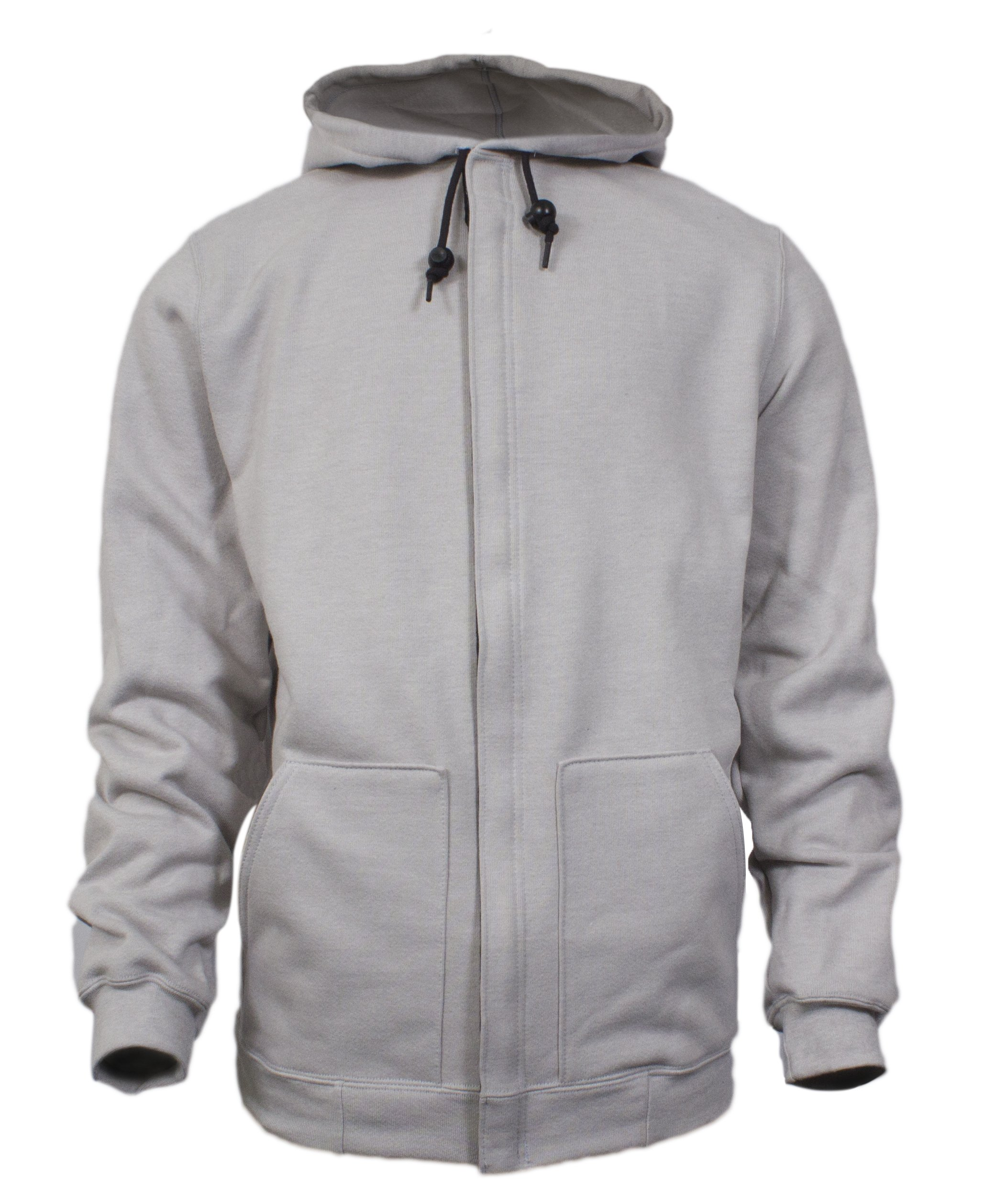 National Safety Apparel C21IG054X FR Hooded Zip Front Sweatshirt, 4X-Large, Grey