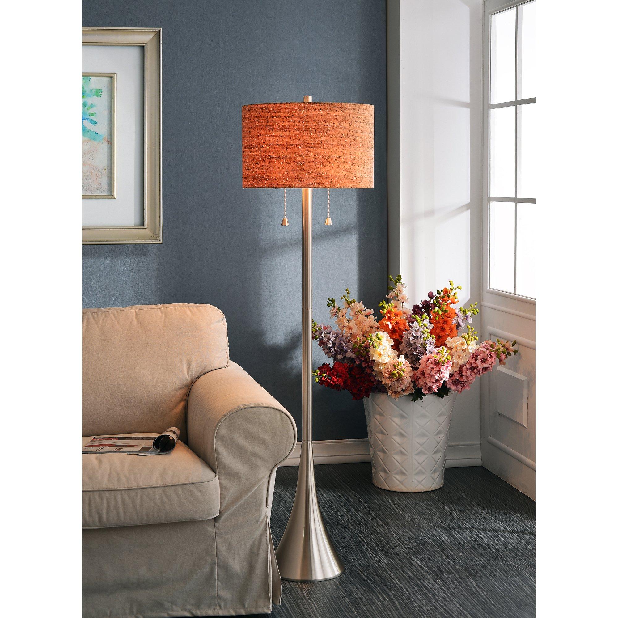 Kenroy Home 32093BS Bulletin Floor Lamp by Kenroy Home