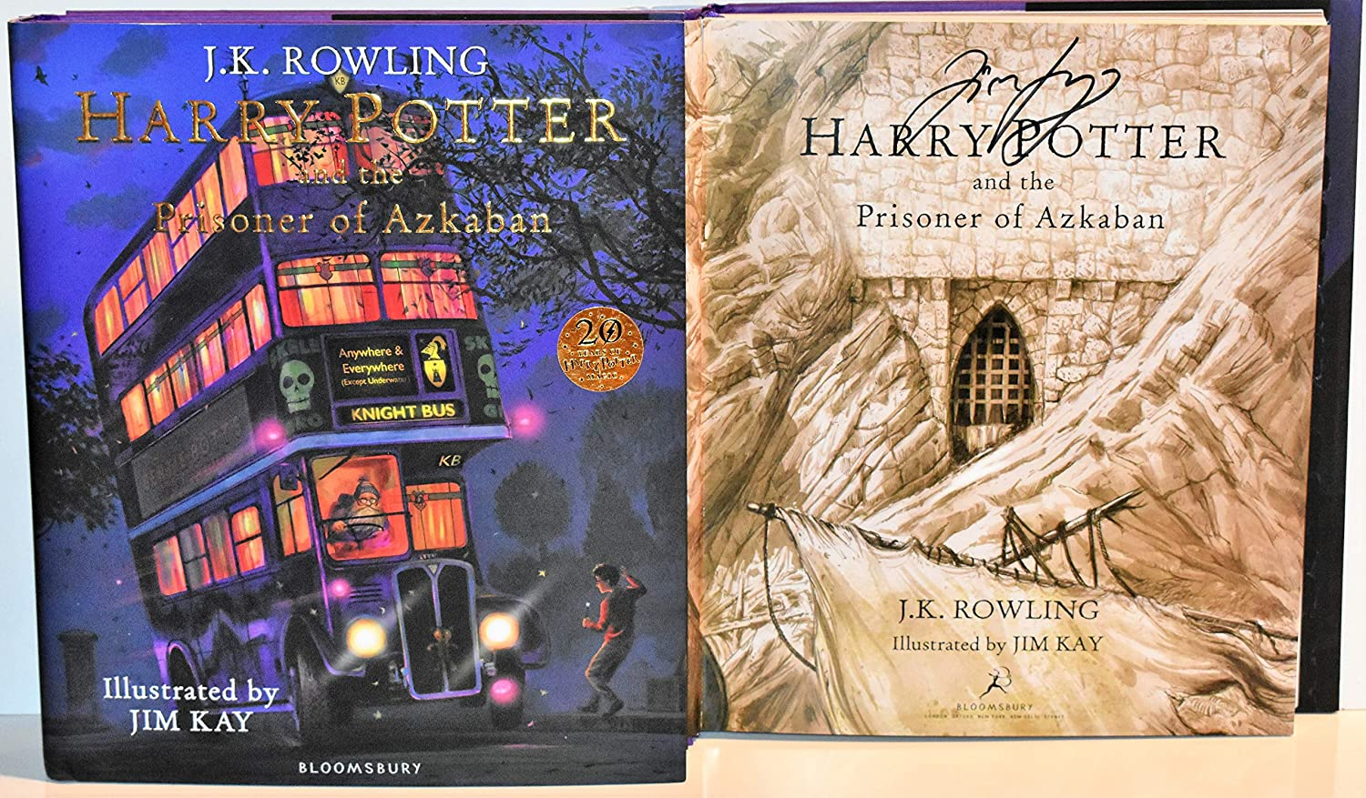 Harry Potter & The Prisoner of Azkaban Illustrated Book (UK First Print) Jim Kay SIGNED COA 5545 Signed Edition