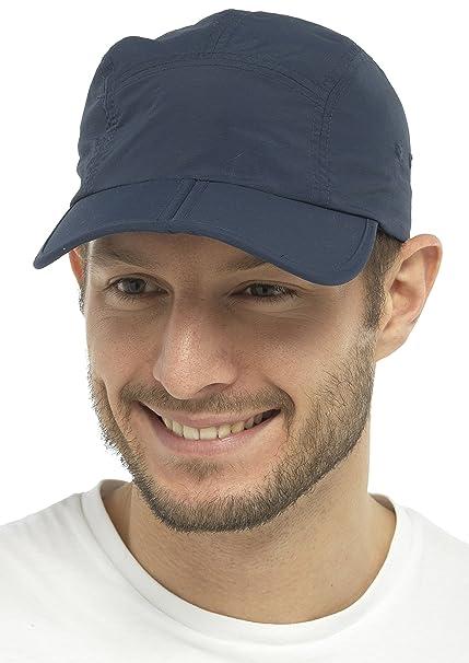 Tom Franks - Gorra ligera con visera plegable azul azul Talla única: Amazon.es: Ropa y accesorios