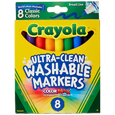 Washable Coloring Markers 8 Colors [Set of 2]: Toys & Games