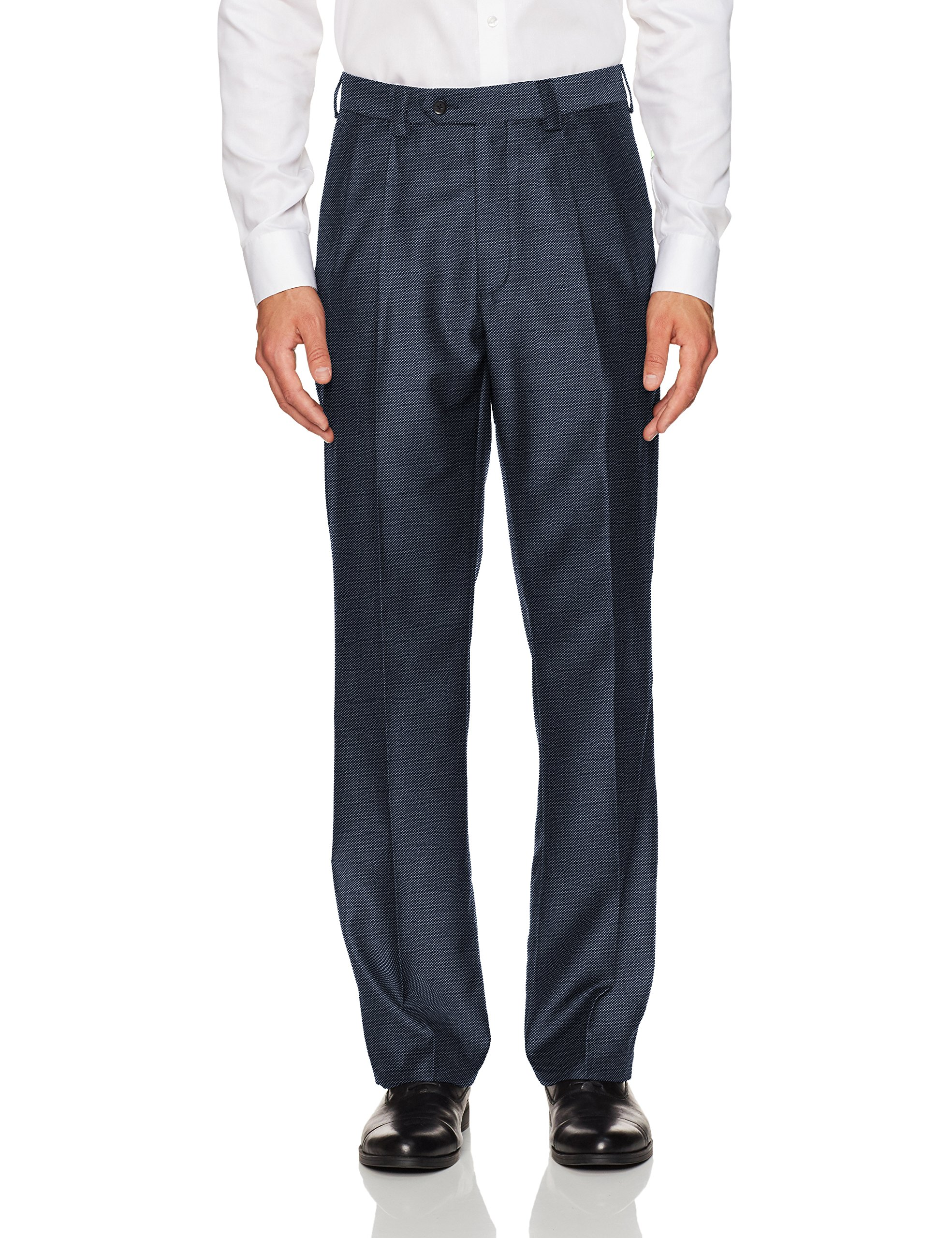 Steve Harvey Men's Solid Regular Fit Suit Seperate Pant, New Blue, 40Wx34L