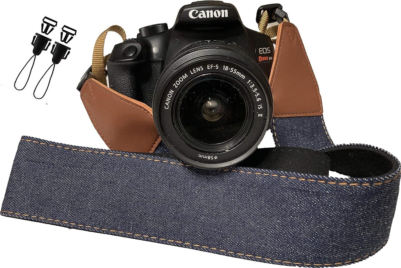 Correa de cámara con jeans azules para cámaras DSLR – Elegante ...