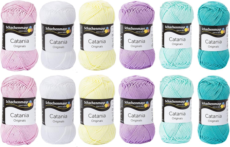 Color woolmix Grande - colores pastel - verano lana Catania - hilo de gafas de esquí - lana Paquete con lana Catania de Schachenmayr - lana paquete algodón - colores pastel - lana envase/Wollset de mi