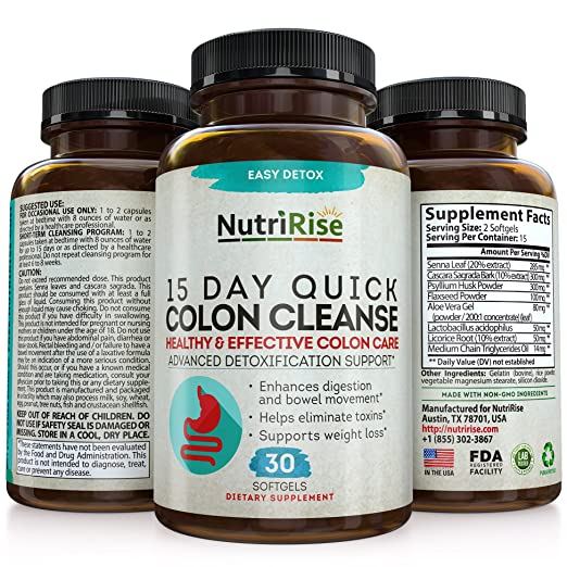 Amazon.com: Colon Cleanser Detox for Weight Loss. 15 Day Fast-Acting  Extra-Strength Cleanse with Probiotic & Natural Laxatives for Constipation  Relief ...