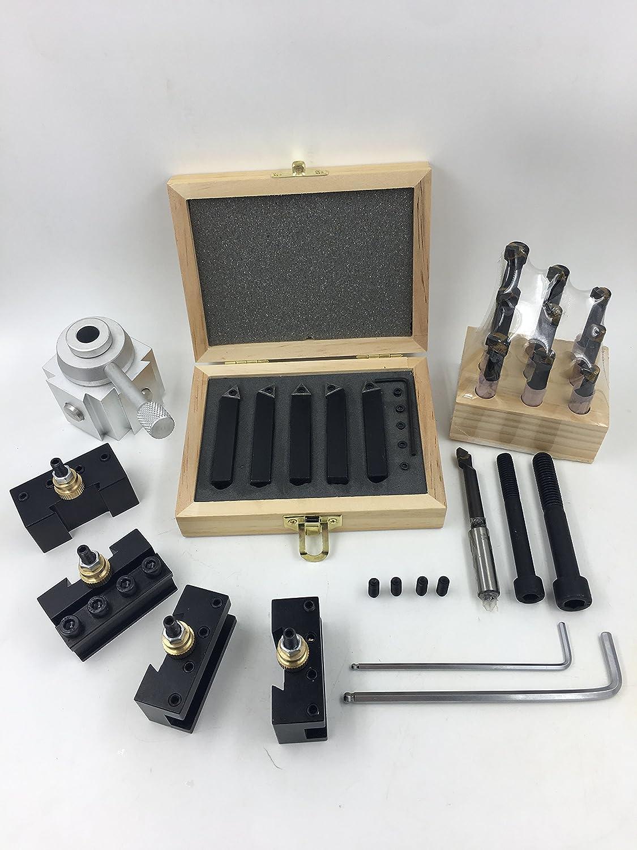 "Quick Change Post Holder Kit 9pcs 3//8/"" Boring Bar Turning Tool CNC Lathe K0F0"