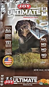 Joy Dog Food Ultimate Chicken and Rice, Maroon (70654)