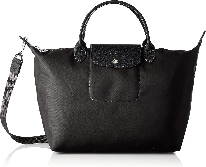 Longchamp Le Pliage Neo, sac à main femme - noir - Schwarz (Noir), 17x28x32  cm (B x H x T)