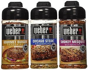 Weber Seasoning 3 Flavors Bundle 5.5-6 Ounce (Pack of 3)
