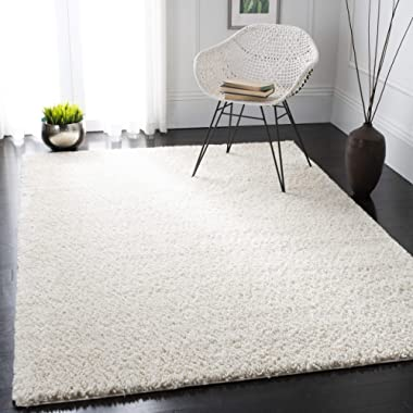 Safavieh AUG900C-8 August Shag Collection AUG900C Ivory (8' x 10') Area Rug,