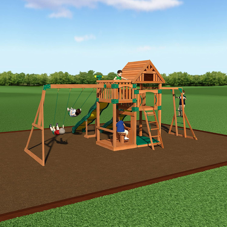 Amazon Backyard Discovery Crestwood All Cedar Wood Playset