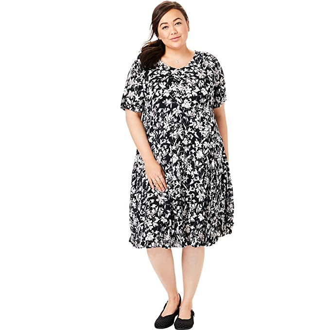 Woman Within Women\'s Plus Size Short Crinkle Dress