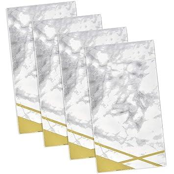 Amazon.com: 100 servilletas de papel de mármol con lámina ...