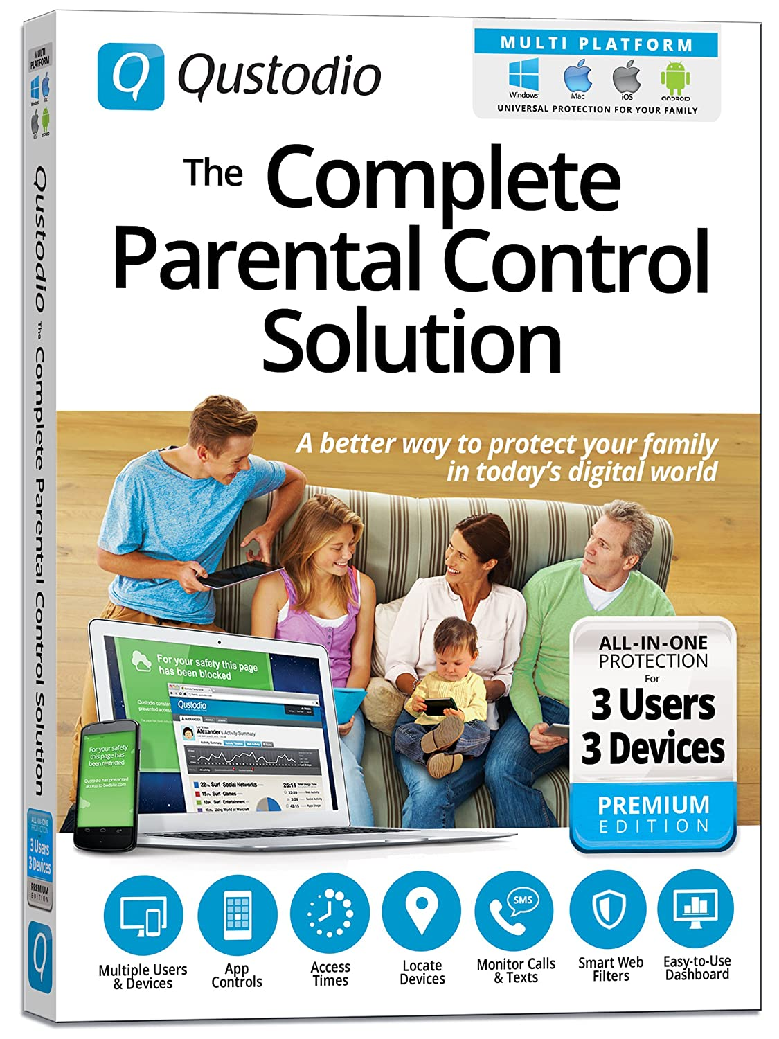 Qustodio The Complete Parental Control Solution 3 Using Your Electrical Wiring For Networking Family Helpdesk Users Devices Win Mac Ios Android