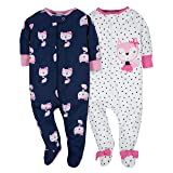 Gerber Baby Girls' 2 Pack Zip Front Sleep 'n