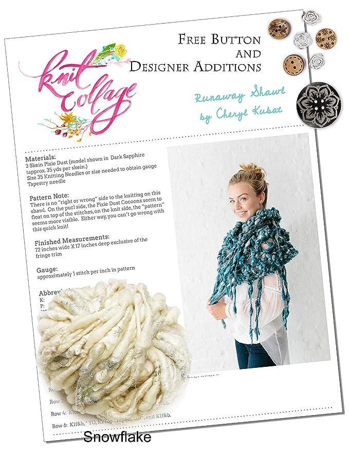 Kit para tejer: voluminoso flecos chal de punto Collage: Amazon.es ...