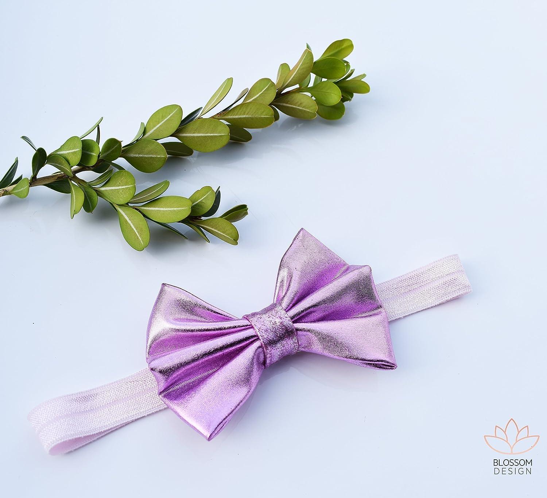 Amazon.com  Shimmery Shiny Metallic Purple Bow Headband 38dd6046b7c