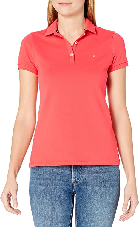 Nautica Mujer 71KZ02 Manga Corta Camisa Polo - Rojo - Medium ...
