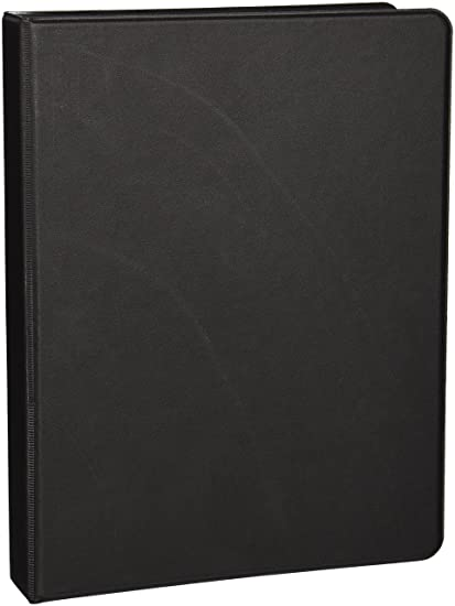 amazon com sparco 3 ring binder 1 inch capacity 9 1 2 x 6 inches