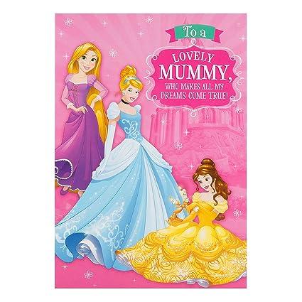 Hallmark - Tarjeta de cumpleaños para Mummy Princesas Disney ...