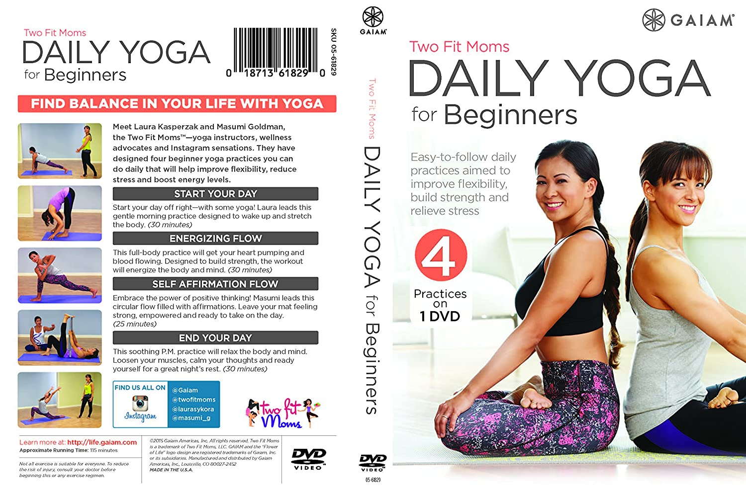Two Fit Moms Daily Yoga for Beginners [USA] [DVD]: Amazon.es ...