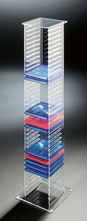 Howe Deko Exclusive Acrylic Cd Dvd Stand Cd Dvd Shelf Transparent