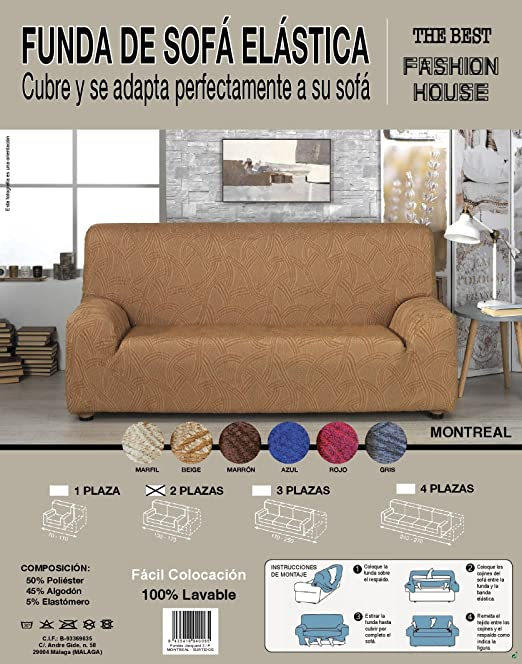the best fashion house Funda de Sofa Elastica Universal ...