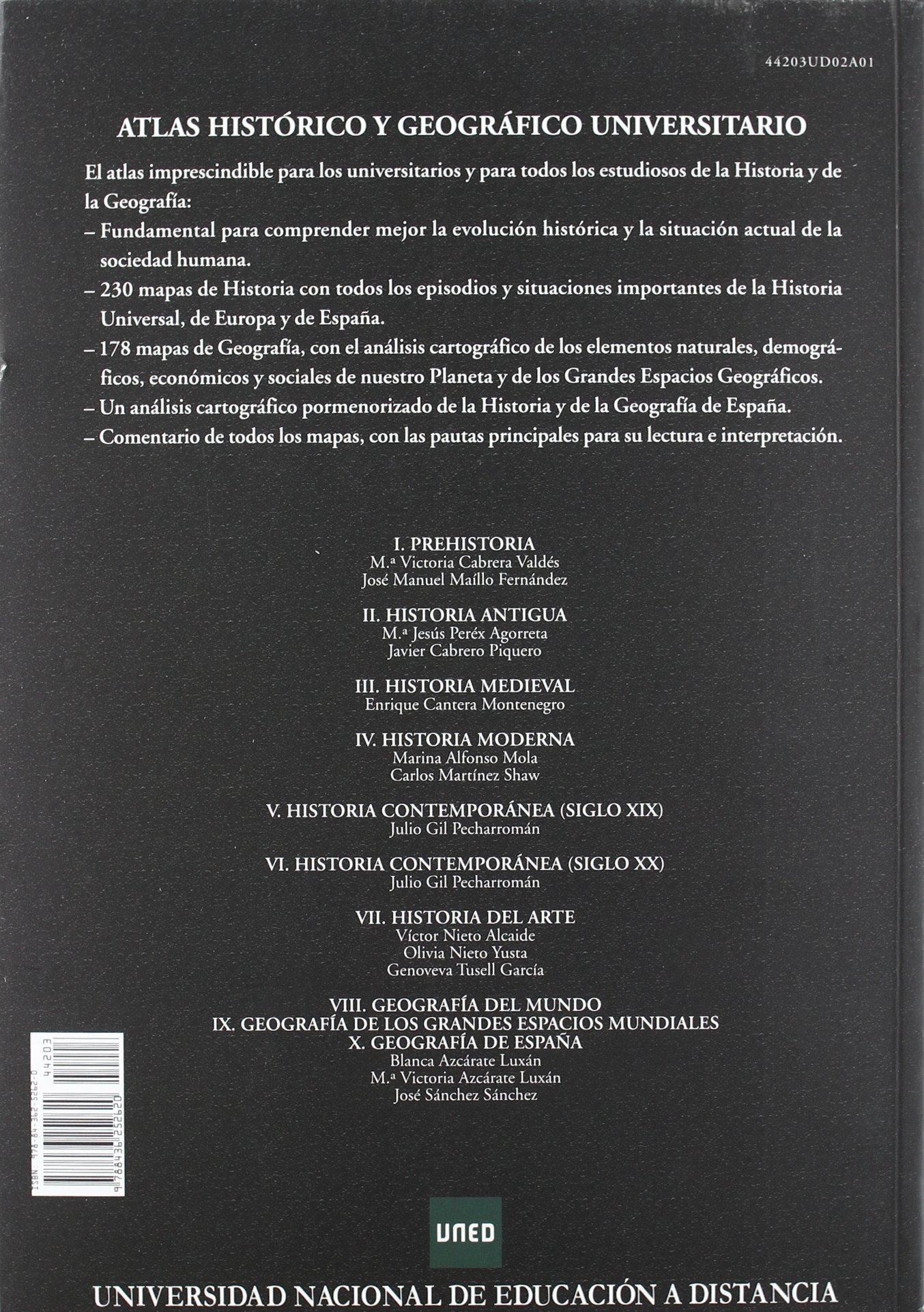 Atlas histórico y geográfico universitario UNIDAD DIDÁCTICA: Amazon.es: Azcárate Luxán, Blanca, Azcárate Luxán, M.ª Victoria, Sánchez Sánchez, José: Libros