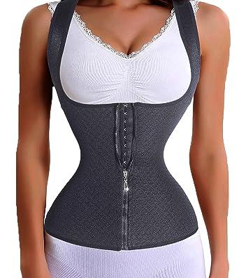 d666b27d665 Gotoly Women Waist Trainer Corset Slim Belt Zipper With Hook Lumbar Support  Back Brace  Amazon.co.uk  Clothing