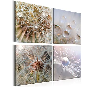 Murando Bilder Pusteblume 40x40 Cm   Vlies Leinwandbild   4 Teilig    Kunstdruck   Modern
